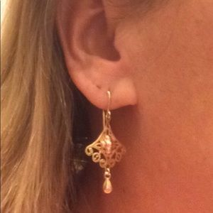 Jewelry - 🔥 14k Tri-Colored Dangle Earrings 🔥